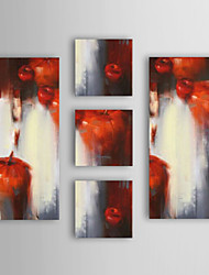 Oil Painting Modern Abstract  Set of 5 Hand Painted Canvas with Stretched Framed