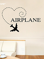 AWOO® New Design AIRPLANE Pattern   Wall Stickers Home Decor Vinyl  Stickers For Kids Room Decoration