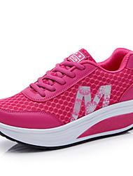 Sapatos Fitness Feminino Azul / Vermelho / Cinza Nylon