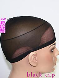 20pcs Black Unisex elastic wig caps for making wigs glueless hair net Wig Liner Cap Snood Nylon Stretch Mesh