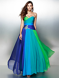 TS Couture® Prom  Formal Evening Dress A-line Sweetheart Floor-length Chiffon with Crystal Detailing / Criss Cross