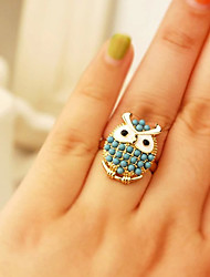 Sweet Style Delicate Lovely Owl Pearl Ring