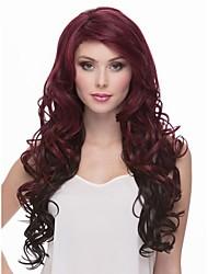 новое прибытие естественный цвет # 1b&красное вино syntheic парик
