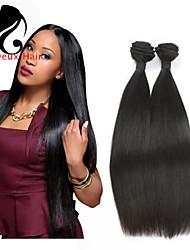 4bundles cabelo humano cabelo reto 8-26inch cabelo brasileiro virgem tece cor natural