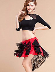 Roupa ( Preto , Raiom / Elastano / Renda / Modal , Dança do Ventre ) - de Dança do Ventre - Mulheres