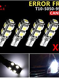 4x canbus coin t10 blanc 192 168 194 W5W 9 5050 LED SMD erreur ampoule lumière 12v gratuitement