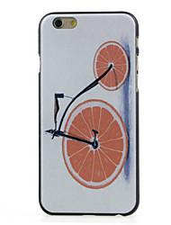 caso duro teste padrão do carro laranja para iphone 6 / 6s