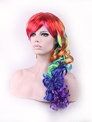 Cosplay Wig Inspired by Blue and Purple and Red Mixed Color Wigs