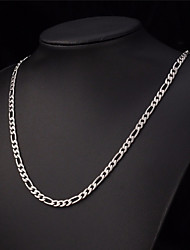 18k Silver Plated Matte 20 Inch(50cm) 10mm Width Chain Necklace Accessories for Men