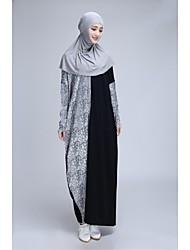hijabtalk ™ manga murciélago jilbabs abaya bloque del color del remiendo de las mujeres musulmanas