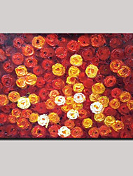 Hand-Painted Abstract Landscape Modern Blooming Roses Flowers Oil Painting On Canvas Ready To Hang One Panel 80x120cm