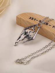 Movie Acc Skyrim Dragon Pendant Necklace