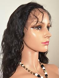 """10 """"-24"""" dentelle de vague naturelle perruque avant de cheveux brésiliens vierges suisse perruque aux cheveux de cheveux de bébé pas cher"""