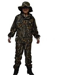 Ourdoor Camouflage Suits , Waterproof Autumn and winter Camo Jacket Suits for Hunting Fishing(Jacket+Suspender Trousers)
