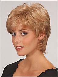 encantadores perucas de onda curta de cabelo sintético