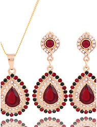 Fashion jewelry necklaces earrings gold plated (necklace) (earrings)