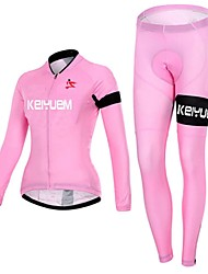 KEIYUEM® Cycling Jersey with Tights Women's Long Sleeve BikeWaterproof / Breathable / Quick Dry / Windproof / Insulated / Rain-Proof /