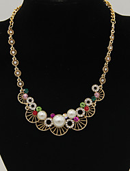 Women's Fashion Pearls Statement Necklaces