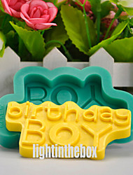 Happy Birthday Boy DIY Silicone Chocolate Pudding Sugar Cake Mold