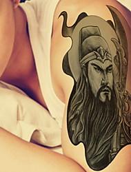 Guan Yu Waterproof Flower Arm Temporary Tattoos Stickers Non Toxic Glitter