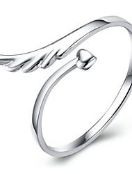 Ringe Damen Ohne Stein Silber Silber Verstellbar Silber