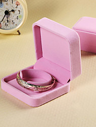 Gorgeous Square Shape Pink Jewelry Box For Women