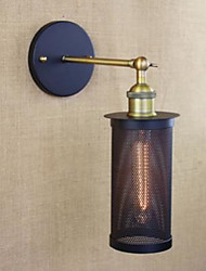 Wall Lamp, Wrought Iron With Iron Net