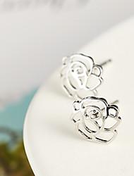 Ovish Rose Pierced Earrings