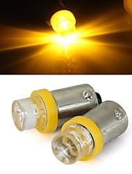 Le parking de signal du feu de la lumière de sauvegarde 2 x voiture BA9S T4W 1156 jaune ampoule tour