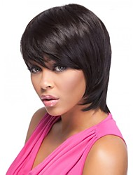 Medium Straight Bob Style Human Virgin Remy Hand Tied-Top Capless Hair Wigs