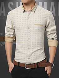 Han edition men's cotton long sleeve shirt business and leisure travelers
