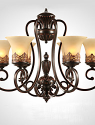 Ecolight® Chandeliers/Pendant Lights/6 Lights/ Vintage/Country/Island Living Room/Bedroom/Dining Room/Metal+Glass