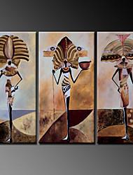 ручная роспись абстрактной портрет современного маслом, холст три панели