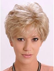 belle ondes courtes de cheveux synthétiques blonds perruques assez de stocks de haute qualité réelle