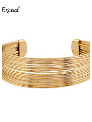 D Exceed Women Cuff Bracelets Gold Fashion Hollow Out Design Wide Bracelet Free Shipping