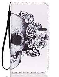 For Samsung Galaxy Note Wallet / Card Holder / with Stand / Flip Case Full Body Case Skull PU Leather Samsung Note 5