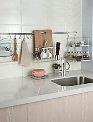 chuyuwuxian utensílio de cozinha rack de canto ferramenta cabide organizador tempero parede cromo terminado rack de aço t60 120