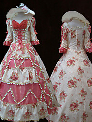 Steampunk®Top Sale Pink Printing Princess Dress Victorian Party Dress Royal Cosplay Prom Dresses