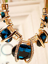 Necklace Strands Necklaces Jewelry Party / Daily Fashion Crystal / Alloy / Rhinestone Blue / Green 1pc Gift