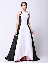 Formal Evening Dress - Elegant A-line / Princess Jewel Asymmetrical Taffeta with