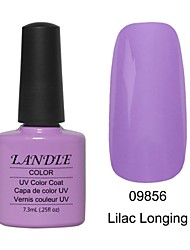 LUNDLE 09856 Soak Off UV Nail Gel Color Gel LED Manicure Gel Lilac Longing