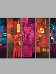 Five Panel Abstract Oil Paintings in High Quality