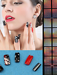 Nail Art Vinyl Stencil Guides Shattered Glass Style Tips Manicure Stickers
