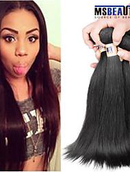 """4 unidades / lote 8 """"-30"""" cabelo humano em linha reta cabelo virgem 6amalaysian tramas 100% Mechas malaio não transformados tece"""