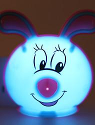 d'économie d'énergie a mené la lampe de lumière mode nuit de lumière fonctionnant lapin mignon