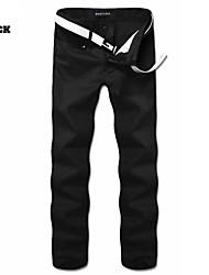 MEN - Pantaloni - Informale A vita medio-alta - magro Misto cotone