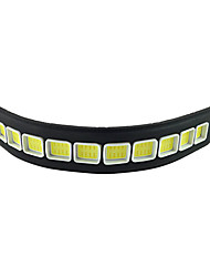 2шт водонепроницаемый гибкий силикон 10 привело 10w 600lm початок 26см белый свет светодиодные фары дневного света (DC12V)