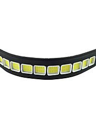 2pcs impermeabile in silicone flessibile 10 led 10w pannocchia 26 centimetri 600lm luce bianca ha condotto la luce marcia diurna (DC12V)