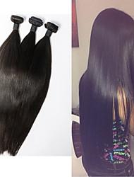 Cabelo 20inch reto extensão do cabelo humano natural de seda preta reta humano tece cabelo humano de 100%