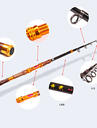 Can Contract Portable 2.4 Meters of Solid Wood Handle Metal Accessories Rod of Hard Carbon Sea